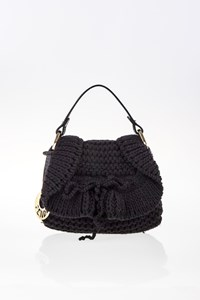 Fendi Black Knit Chef Mini Bag