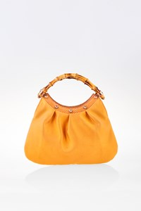 Gucci Mustard Bamboo Top Handle Small Bag