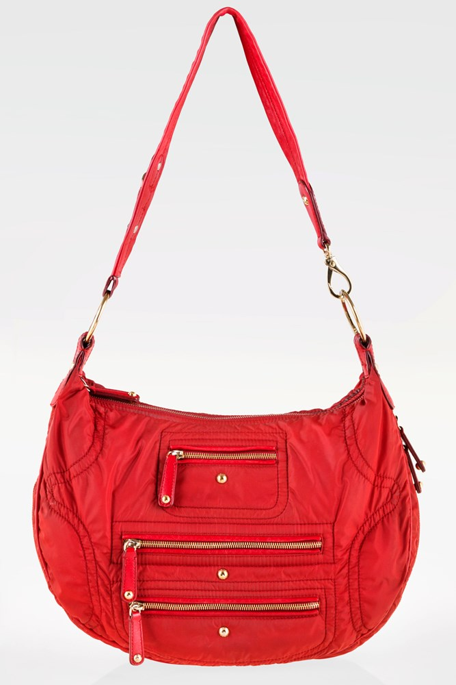 2c0517785e Red Nylon Pashmy Luna Media Shoulder Bag