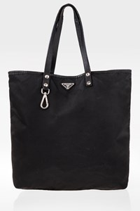 Prada Black Nylon Tote Shopper Bag