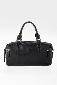 Longchamp Black Leather Small Tote Bag