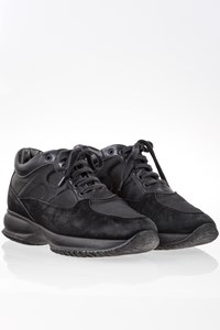 Hogan Interactive Black Suede and Nylon Sneakers / Size: 37.5 - Fit: 38.5