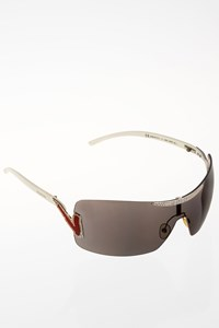 Valentino 5416/S White Acetate Sunglasses with Crystals