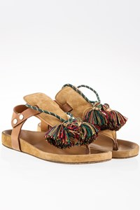 Isabel Marant Camel Cook Sandals with Tassels / Size: 38 - Fit: True to size