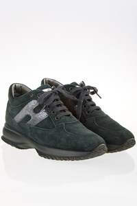 Hogan Petrol Suede Interactive Sneakers / Size: 36 - Fit: 37
