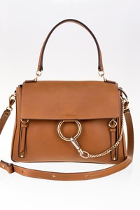 Chloé Tan Faye Day Medium Leather Shoulder Bag