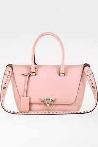 Valentino Baby Pink Demilune Small Leather Shoulder Bag