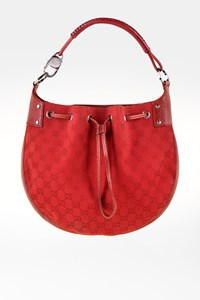 Gucci Red GG Canvas Shoulder Bag