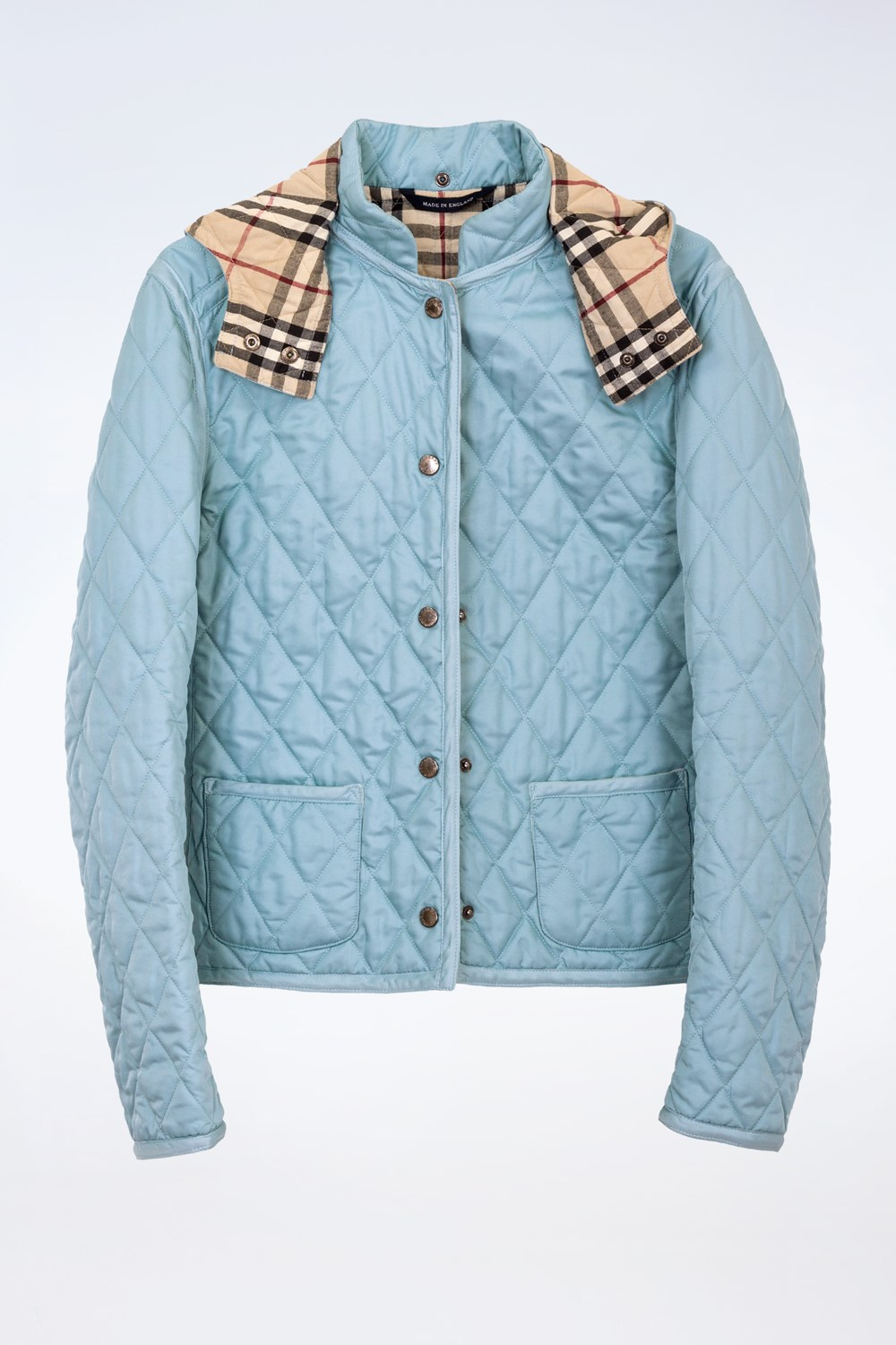 71071dfe49fd2 Light Blue Quilted Lightweight Jacket Size 8 Uk Fit Xs S. Burberry Baby Boys  ...