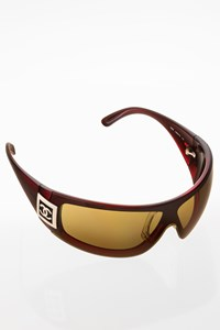 Chanel 5085 Burgundy Acetate Mask with Logo