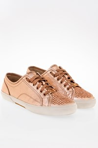 Michael Kors Rose Gold Boerum Metallic Stud-Toe Sneaker / Size: 8M (38)- Fit: 39