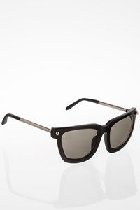 Linda Farrow by Alexander Wang Black Acetate Sunglasses with Metallic Details
