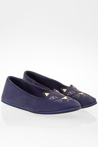 Charlotte Olympia Blue Rubber Capri Cats Ballerinas / Size: 41 - Fit: 39.5