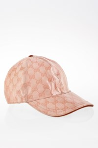 Gucci Light Pink GG Coated Canvas Hat