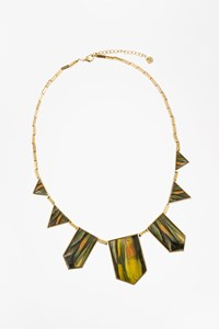House of Harlow Gold Plated Necklace with Multicolour Stones