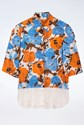 Dries Van Noten Multicolour Silk Short Sleeve Shirt / Size: 38 - Fit: XS