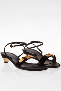Prada Black Suede Strap Sandals / Size: 36 - Fit: 36.5