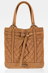 Burberry Prorsum Tabac Quilted Leather Shoulder Bag