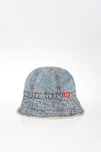 Miss Sixty Frayed Denim Bucket Hat