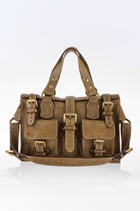 5c3dff2d1c3b Mulberry Khaki Mini Roxanne Leather Tote Bag ...