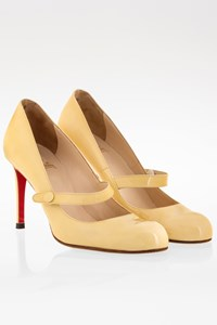 Christian Louboutin Vanilla Mary Jane Patent Leather Pumps / Size: 39 - Fit: Tight