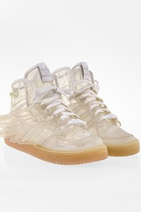 Jeremy Scott by Adidas Transparent Sneakers with Wings / Size: 8.5 UK - Fit: 42.5