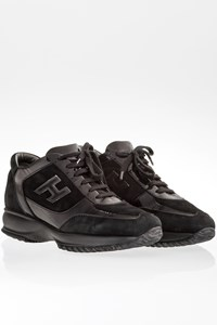 Hogan Black Interactive Sneakers with Suede and Patent Leather / Size: 37- Fit: 38