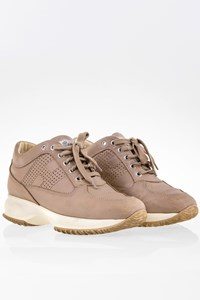 Hogan Beige Interactive Sneakers with Perforated Details / Size: 36.5 - Fit: 37.5