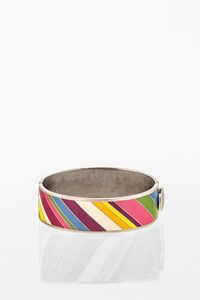 Coach Multicoloured Enamel Striped Bangle