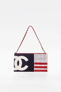 Chanel American Flag Canvas and Leather CC Pochette Bag
