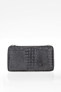 Streets Grey-Anthracite Ostrich Effect Clutch Bag
