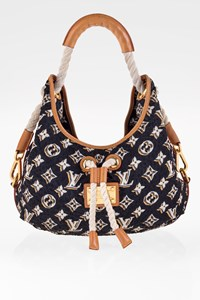 Louis Vuitton Navy Blue Nylon Limited Edition Bulles MM Tote Bag