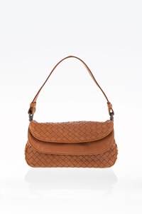 Bottega Veneta Tan Intrecciato Nappa Small Shoulder Bag