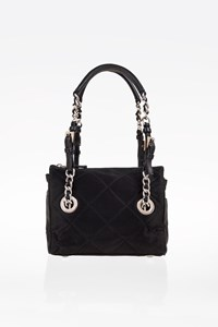 Prada Tessuto Black Quilted Satin Mini Shoulder Bag