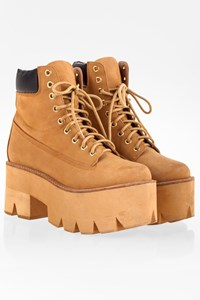 Jeffrey Campbell Beige-Tan Nirvana Double Sole Boots / Size: 39 - Fit: True to size
