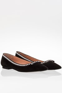 Marc Jacobs Black Suede Pointy Ballerina Flats / Size: 40 - Fit: 39.5