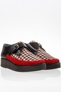 Parkabue Tricolour Oxford Flatforms / Size: ? - Fit: 36.5