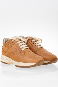 Hogan Interactive Tan Leather Sneakers / Size: 36 - Fit: 37
