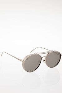 Ojo Silver Aviator Metallic Sunglasses