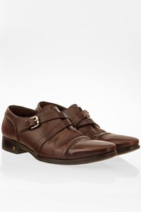 Louis Vuitton Brown Leather Monk Straps / Size: 7.5 - Fit: 40