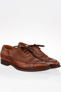 Berluti Tan Leather Oxfords with Stitching / Size: 7 - Fit: True to size