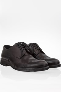 Krizia Uomo Black Leather Lace-up Oxfords / Size: 41 - Fit: 40
