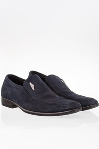 Alberto Guardiani Blue Suede Moccasins / Size: 40 - Fit: True to size
