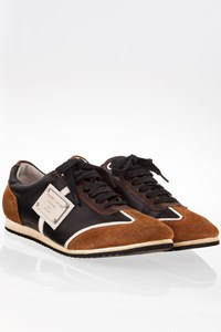 Pierre Cardin Tricolour Sneakers with Leather and Suede / Size: 41 - Fit: 40