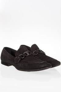 Louis Vuitton Black Suede Men's Moccasins / Size: 7 - Fit: True to size