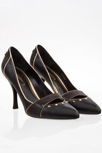 "Louis Vuitton ""Oh Really"" Black Leather Pumps / Size: 39 - Fit: True to size"