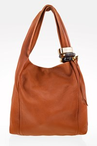 Jimmy Choo Tan Saba Large Leather Hobo Bag