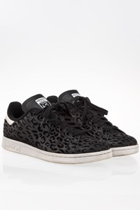 Adidas Stan Smith W Black Leopard Print Sneakers / Size: 39 1/3- Fit: 39