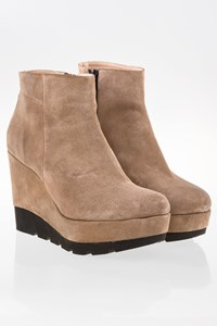 FS by Feng Shoe Sandy Beige Platform Booties / Size: 40 - Fit: 39.5