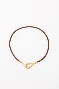 Hermès Jumbo Hook Leather Necklace-Bracelet
